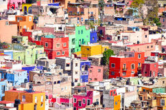 Colorful buildings. Many colorful buildings in Mexico Royalty Free Stock Photography