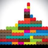 Colorful buildings of metropolitan city skyline bu royalty free illustration