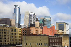 Colorful Buildings in Minneapolis Stock Photography