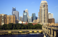 Colorful Buildings in Minneapolis Royalty Free Stock Photo