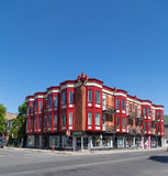 Colorful Buildings in Montreal Stock Image