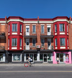 Colorful Buildings in Montreal Stock Photos