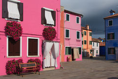 Colorful Buildings in Burano, Italy Stock Photos