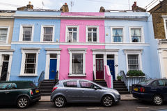 Colorful Buildings in Notting Hill London Royalty Free Stock Photo