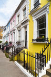 Colorful Buildings in Notting Hill London Royalty Free Stock Photography