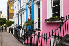 Colorful Buildings in Notting Hill London Stock Photos