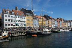 The Colorful Buildings of Nyhavn in Copenhagen Stock Images