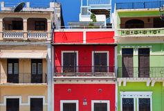 Colorful buildings in Old San Juan Stock Photos