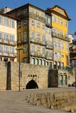 Colorful buildings in the old town. Porto. Portugal royalty free stock photography