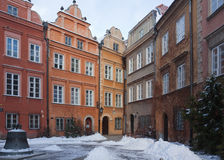 Colorful buildings of Old Town. Warsaw, Poland Stock Image