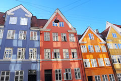 Colorful buildings Stock Images