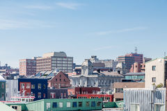 Colorful Buildings in Portland Stock Photo