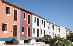 Colorful buildings in Portugal Stock Photo