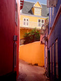 Colorful buildings in Punda, Curacao. View of colorful buildings in Willemstad, Curacao, Punda side Stock Photos