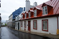 Colorful buildings in Quebec Stock Photo