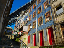 Colorful buildings in Ribeira, Porto Portugal Stock Photography