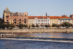 Colorful buildings and river scenery in Prague, Czech. Colorful buildings and river scenery in Czech Stock Photography