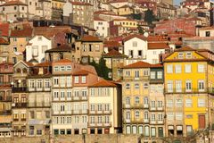 Colorful buildings at the seafront. Porto. Portugal stock images