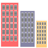 Colorful buildings. Royalty Free Stock Images