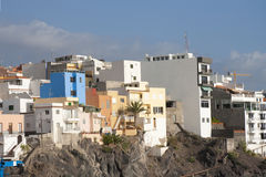 Colorful buildings of Tenerife Stock Photography