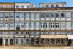 Colorful buildings in Toural Square. Guimaraes. Portugal Royalty Free Stock Image
