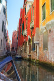 Colorful buildings of Venice Stock Photos
