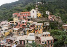 Colorful Buildings in Vernazza Royalty Free Stock Photos