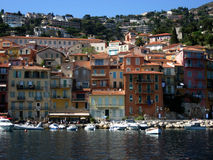 Colorful buildings on the water front in Nice, French Riviera, France Royalty Free Stock Image