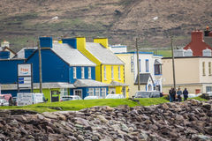 Colorful buildings in waterville Royalty Free Stock Image