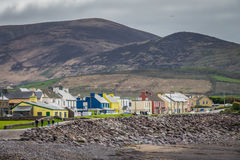 Colorful buildings in waterville Stock Photography