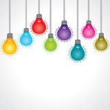 Colorful bulb background Royalty Free Stock Photography