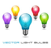 Colorful Bulbs Stock Image