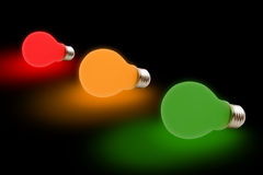 Colorful bulbs Royalty Free Stock Photo