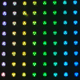Colorful bulbs Stock Photo