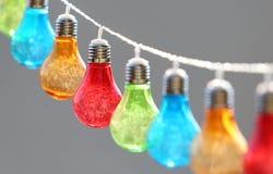 Colorful bulbs Stock Photography