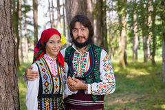 Colorful Bulgarian costumes Royalty Free Stock Image