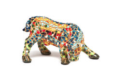 Colorful bull from a mosaic Stock Photography