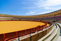 Colorful bullring in seville spain Stock Photography