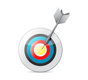 Colorful bulls eye target and dart. illustration Stock Photography