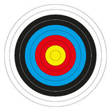 Colorful bullseye target Stock Photos