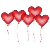 Colorful bunch romantic balloons decorative design Stock Photo