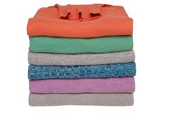 Colorful bunch of women's sweaters Royalty Free Stock Image