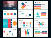 Colorful Bundle infographic elements presentation template. business annual report, brochure, leaflet, advertising flyer,. Corporate marketing banner Stock Images