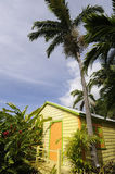 Colorful Bungalow on an Island Royalty Free Stock Image