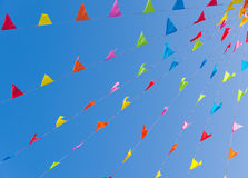 Colorful bunting flags Stock Photo