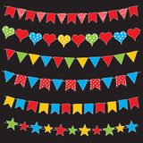 Colorful bunting flags and garlands vector Stock Photography