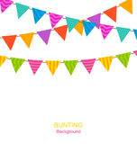 Colorful Buntings Flags Garlands Royalty Free Stock Image