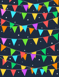 Colorful buntings night time background Royalty Free Stock Images