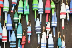 Free Colorful Buoys Royalty Free Stock Photos - 45107528
