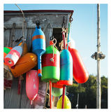 Colorful buoys Royalty Free Stock Images